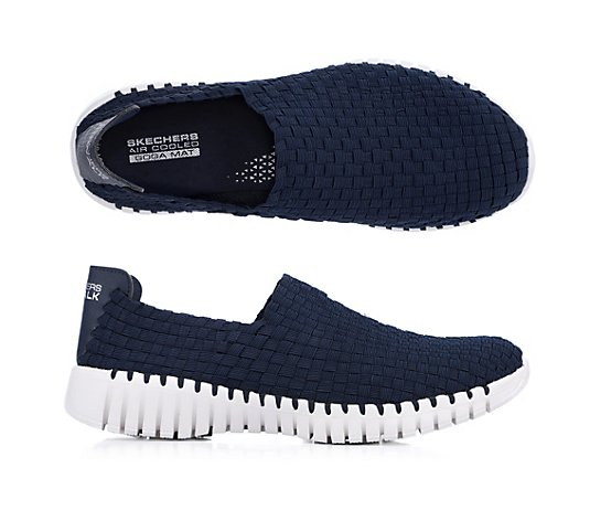 SKECHERS Damen-Slipper Go Walk Textil GoGa Mat Technologie