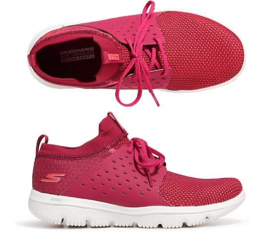 SKECHERS Damen-Sneaker Go Walk Evolution Textil & Mesh Goga Mat® Plus