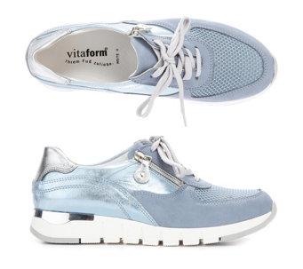 59b8c709fe5430 VITAFORM Damen-Sneaker Leder   Mesh Metallikdetails Luftpolsterfußbett -  318097