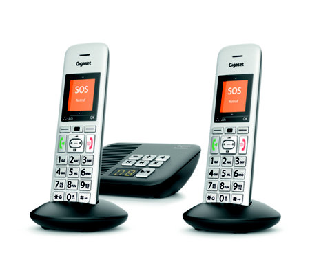GIGASET DECT-Telefon-Duo SOS-Funktion Anrufbeantworter Made in Germany