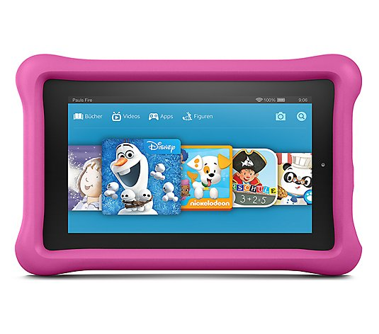 AMAZON FIRE 17,7cm Tablet PC Kids Edition Quad-Core, 16GB Schutzhülle