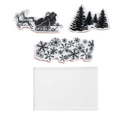 spellbinders stempelkunst 3d stempel acrylblock 4tlg. Black Bedroom Furniture Sets. Home Design Ideas