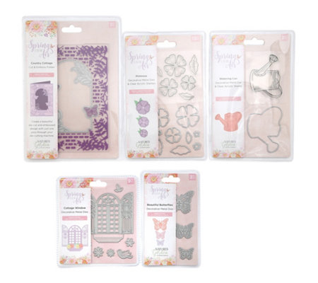 CRAFTER'S COMPANION Kreativ-Set Spring is in the Air Schablonen & Stempel 30tlg.