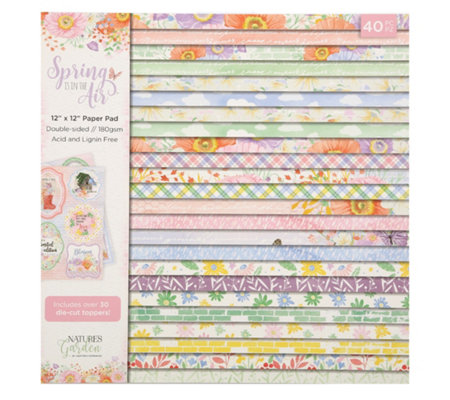 CRAFTER'S COMPANION Kreativ-Set Spring is in the Air Designpapiere 40tlg.