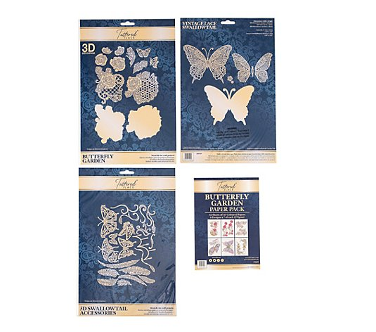 CREATE AND CRAFT Tattered Lace Schablonen-Set Butterfly Garden 53tlg.