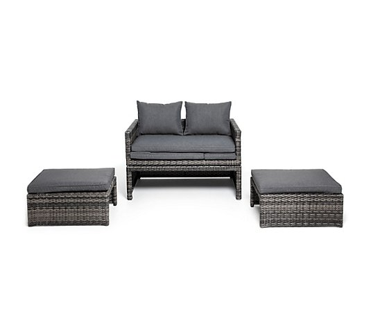 HARTMAN® Geflecht-Lounge-Set Magic Lounge multifunktionale Aufbaumöglichkeiten