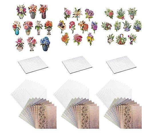 Karin Jittenmeier Grusskarten Set Unique 3d Motive 93tlg Qvc De