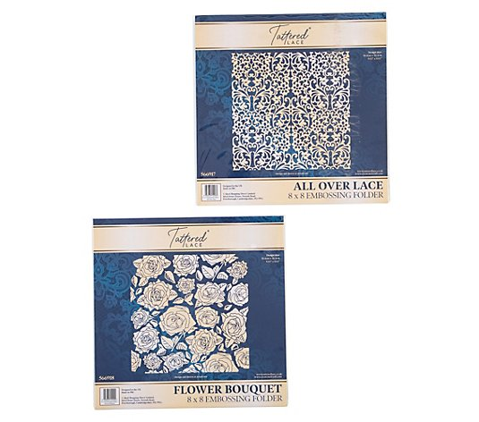 CREATE AND CRAFT Schablonen-Set Tattered Lace Embossing Folder 2tlg.