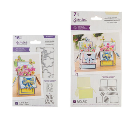 CRAFTER'S COMPANION Kreativ-Set Metallschablonen Pop-up Box 23tlg.