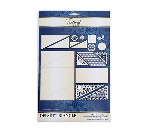 CREATE AND CRAFT TATTERED LACE® Schablonen-Set Triangel-Karte 16tlg.