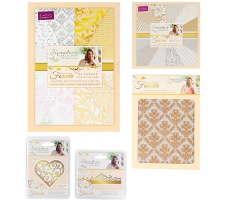 CRAFTER'S COMPANION Kreativ-Set Together Forever inkl. Schablonen 29tlg.