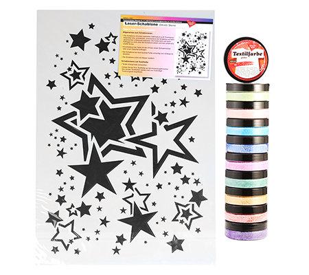 KARIN JITTENMEIER Textil-Design A4 Schablonen & Glitzer Textil ...
