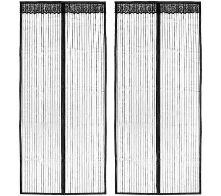 fliegenvorhang magnetverschluss mit klettband f r einfache montage 2 st ck page 1. Black Bedroom Furniture Sets. Home Design Ideas