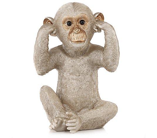 Augen affe die der zuhält sich Affe hält