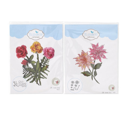 ELIZABETH CRAFT Kreativ-Set Stanzschablonen Rose & Dahlie 22tlg.