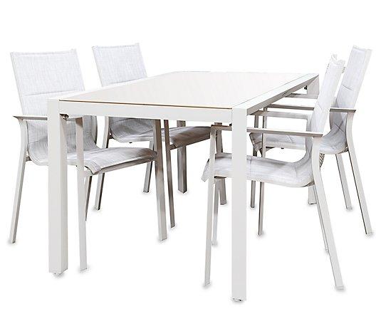Greemotion Gartenmobel Set Oslo 1 Tisch 4 Stuhle Qvc De