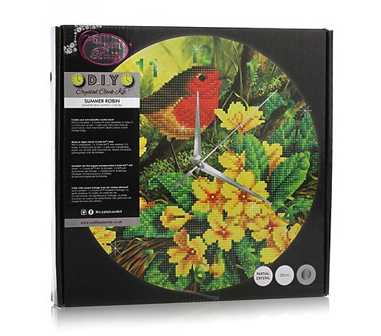 CRAFT BUDDY Diamond Painting Uhr Ø 30cm zum Nachlegen 8tlg.