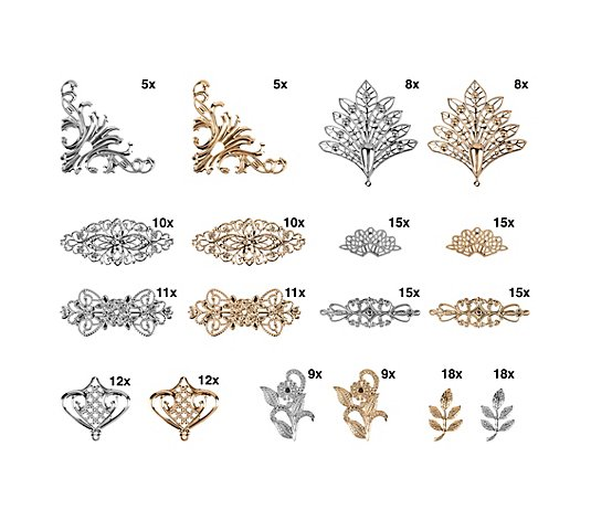 Karin Jittenmeier Dekorations Set Metall Ornamente Verschiedene Designs 18tlg Qvc De