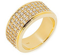 Ring 68 Brillanten zus. ca. 1,00ct Weiß/Piqué 1 Gold 585 - 611800
