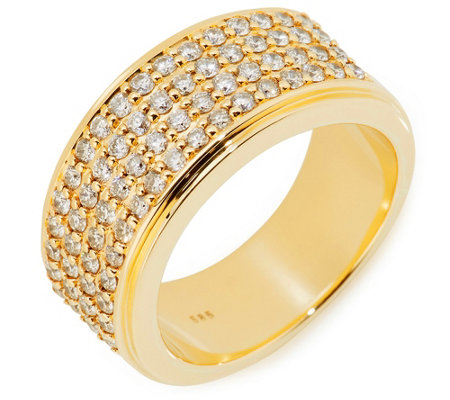 Ring 68 Brillanten zus. ca. 1,00ct Weiß/Piqué 1 Gold 585