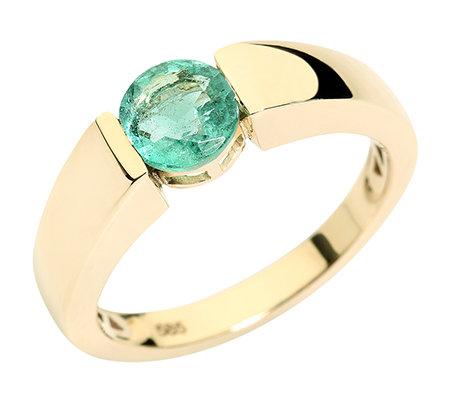 Beliebt Bevorzugt Sambia Smaragd Rundschliff 0,85ct Spann-Optik Ring Gold 585 - Page @PL_41