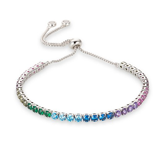 DIAMONIQUE® Friendship-Armband = 1,30ct Brillantschliff Silber rhodiniert