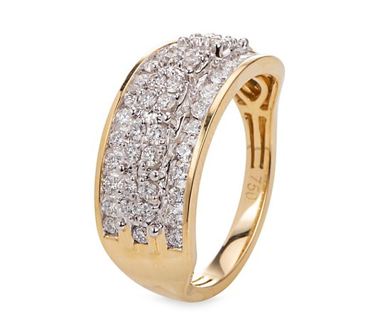 CANADIAN DIAMONDS Ring 48 Brillanten zus. ca. 0,75ct Gold 750
