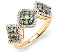 Alexandrit 0,55ct Ring rund facettiert Diamanten 0,22ct Gold 585 - 607205