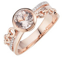 Morganit AAA / 1,25ct Ring 17 Brillanten 0,04ct Roségold 585 - 607405