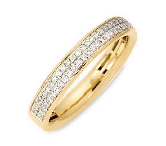Pavé-Ring 50 Brillanten zus. ca. 0,25ct Weiß/SI Gold 585