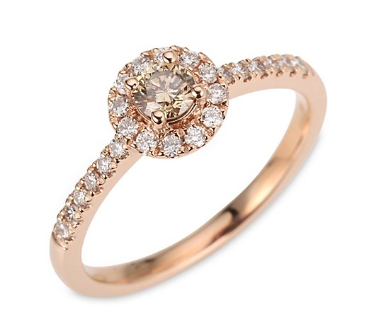 ROYAL COGNAC Entourage-Ring 25 Brillanten zus. ca. 0,50ct Roségold 585