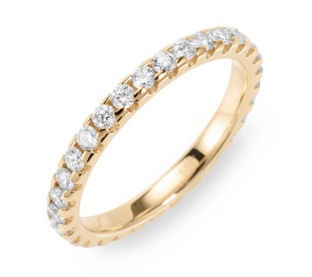 Ring mind. 28 Brillanten zus. ca. 1,00ct Weiß/lupenrein Gold 585
