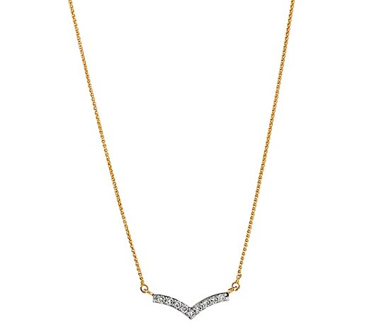Collier 9 Brillanten zus. ca. 0,18ct Weiß/SI Gold 585