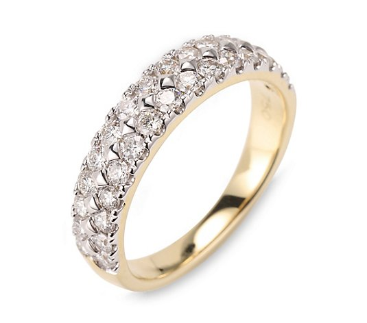 CANADIAN DIAMONDS Rivière-Ring 30 Brillanten zus. ca. 1,00ct Gold 750