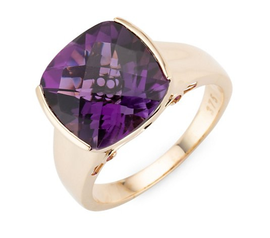 ROYELLE Amethyst Ring ca. 5,50ct Gold 375
