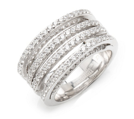DIAMONIQUE® Ring = 2,05ct Brillantschliff Silber rhodiniert