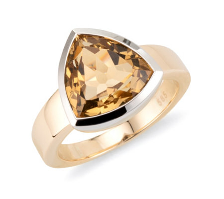 Ring 1 Goldberyll ca. 4,85ct. Trillionschliff Gold 585