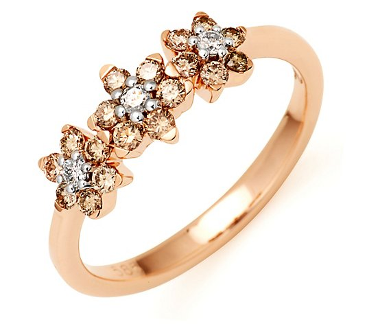ARGYLE Ring 21 Brillanten zus. ca. 0,50ct Roségold 585