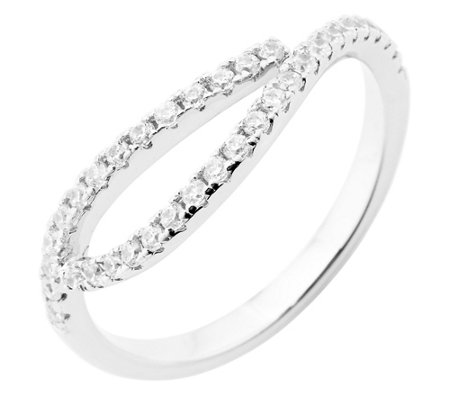 DIAMONIQUE® TRENDS Ring = 0,39ct Silber rhodiniert