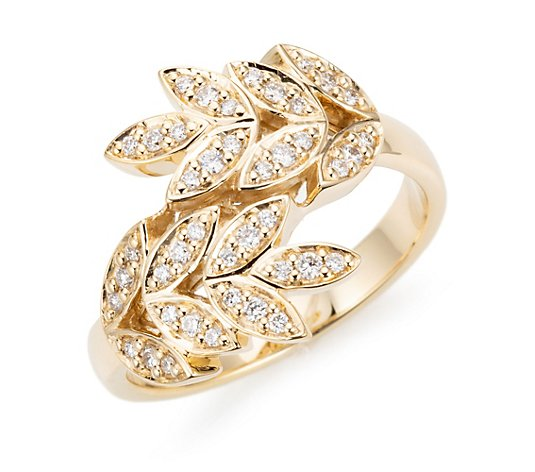 DIAMOUR Ring 42 Brillanten zus. ca. 0,25ct Gold 585