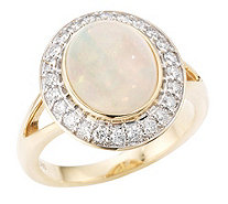 Afrikanischer Opal Entourage-Ring 2,25ct Brillanten 0,36ct Gold 585 - 607021