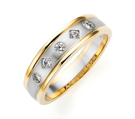 PLATINITY Ring 5 Brillanten zus. ca. 0,25ct Platin 950/Gold 750