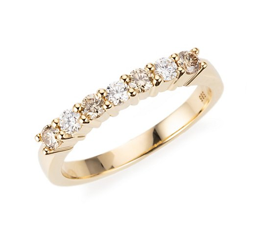 DIAMOUR Ring 7 Brillanten zus. ca. 0,60ct Gold 585