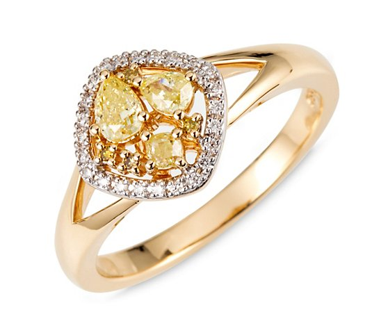 COLOUR DIAMONDS Ring 31 Diamanten zus. ca. 0,50ct Gold 585