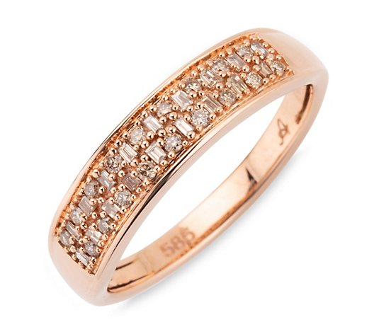 ARGYLE Ring 36 Diamanten zus. ca. 0,20ct Roségold 585