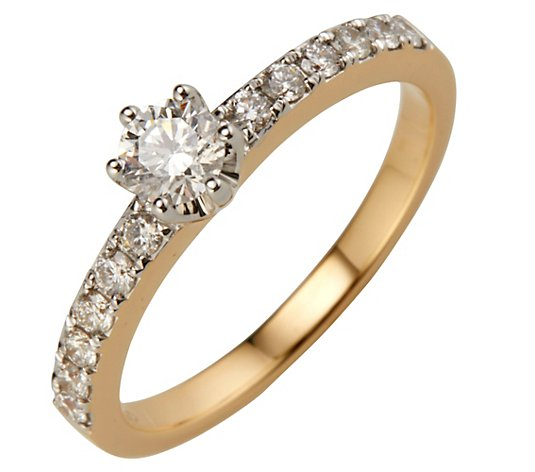 CANADIAN DIAMONDS Ring 13 Brillanten zus. ca. 0,65ct Gold 750
