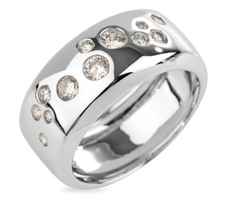 DIAMONIQUE® Ring = 0,55ct Brillantschliff Silber rhodiniert
