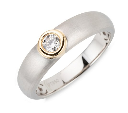PLATINITY Ring 1 Brillant ca. 0,18ct Platin 950/Gold 750
