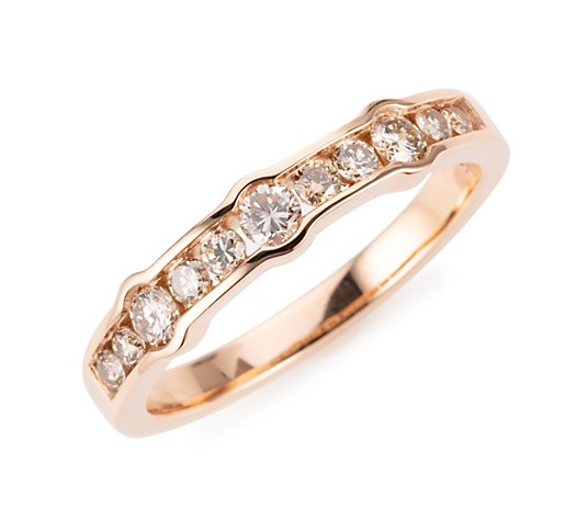 ARGYLE Ring 11 Brillanten zus. ca. 0,50ct Roségold 585