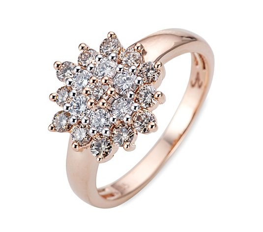 ARGYLE Ring 19 Brillanten zus. ca. 1,00ct Roségold 585